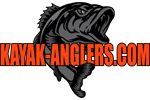 Kayak Anglers Logo with Largemouth Bass